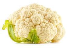 Fresh cauliflower on white. Raw vegetable Stock Photography