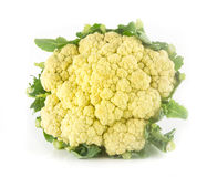Fresh cauliflower on white Royalty Free Stock Photos