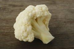 Fresh cauliflower on wooden Stock Photos