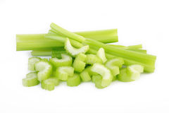 Fresh celery isolated at on white background Royalty Free Stock Photography