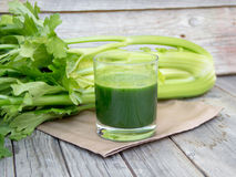 Fresh celery smoothie juice Stock Photo