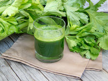 Fresh celery smoothie juice Royalty Free Stock Photos