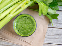 Fresh celery smoothy juice Stock Photography
