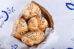Fresh cereal buns Royalty Free Stock Photography