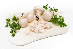 Fresh Champignons Stock Photo