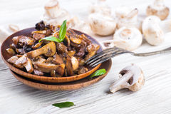 Fresh champignons Royalty Free Stock Photography