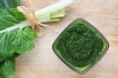 Fresh chard puree Royalty Free Stock Images