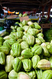 Fresh chayote for sale Stock Photo
