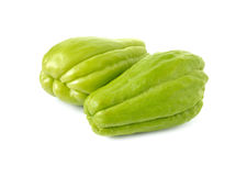 Fresh Chayote on white Royalty Free Stock Images