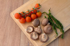 Fresh cheery tomato mushroom and fresh pepper.jpg Stock Photography