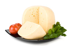 Fresh cheese Royalty Free Stock Photo