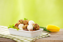 Fresh cheese balls Royalty Free Stock Images