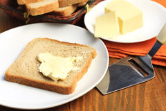 Fresh cheese and bread Royalty Free Stock Photos