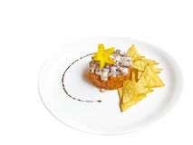 Fresh cheese and carrot tartare Royalty Free Stock Image