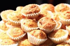 Fresh cheese muffins Stock Photos