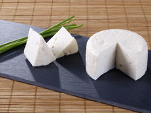 Fresh cheese tapa. Stock Photo