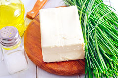 Fresh cheese tofu Royalty Free Stock Images