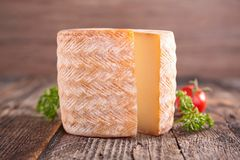 Fresh cheese on wood Stock Photo