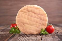 Fresh cheese on wood Royalty Free Stock Photo