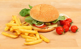 Fresh cheeseburger Stock Images