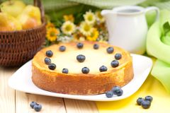 Fresh cheesecake Royalty Free Stock Photos