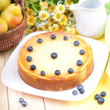 Fresh cheesecake Stock Images