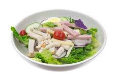 Fresh chef salad on white background Stock Image