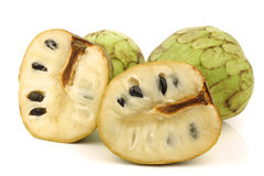 Fresh cherimoya fruit (Annona cherimola) Royalty Free Stock Image