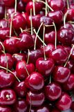 Fresh cherries. In food market Stock Photography