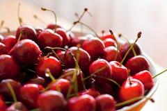 Fresh cherries. Bowl full of fresh cherries Royalty Free Stock Photography
