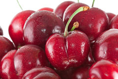 Fresh Cherries. Fresh. Ripe, Red Bing cherries Stock Photos