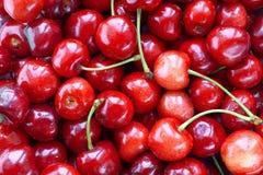 Fresh cherries background Royalty Free Stock Photo