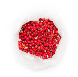 Fresh cherries bag Royalty Free Stock Photos