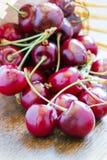 Fresh cherries in a basket Stock Image