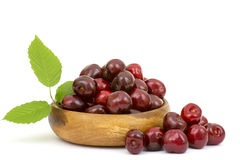 Fresh cherries in a bowl Royalty Free Stock Photography