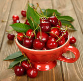 Fresh cherries in a bowl Stock Photos