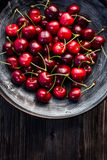 Fresh cherries in a bowl Stock Photography