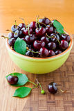 Fresh cherries Stock Photos