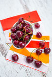 Fresh cherries in a bowl Stock Photo