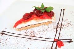 Fresh cherries cake Royalty Free Stock Photo