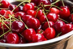 Fresh cherries closeup Stock Photography