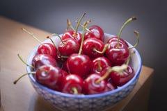Fresh cherries detail shot. royalty free stock photo