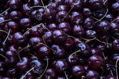 Fresh cherries in a food market Royalty Free Stock Photos