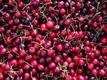 Fresh Cherries, Greek Street Market Stock Image
