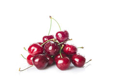 Fresh cherries isolated on a white background Royalty Free Stock Image