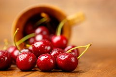 Fresh cherries Royalty Free Stock Images