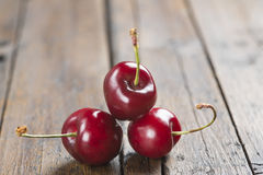 Fresh cherries on the table Stock Images