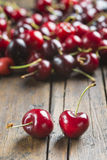 Fresh cherries on the table Royalty Free Stock Image