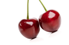 Fresh Cherries With Water Drops Royalty Free Stock Images