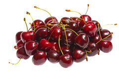 Fresh cherries on white background Royalty Free Stock Images